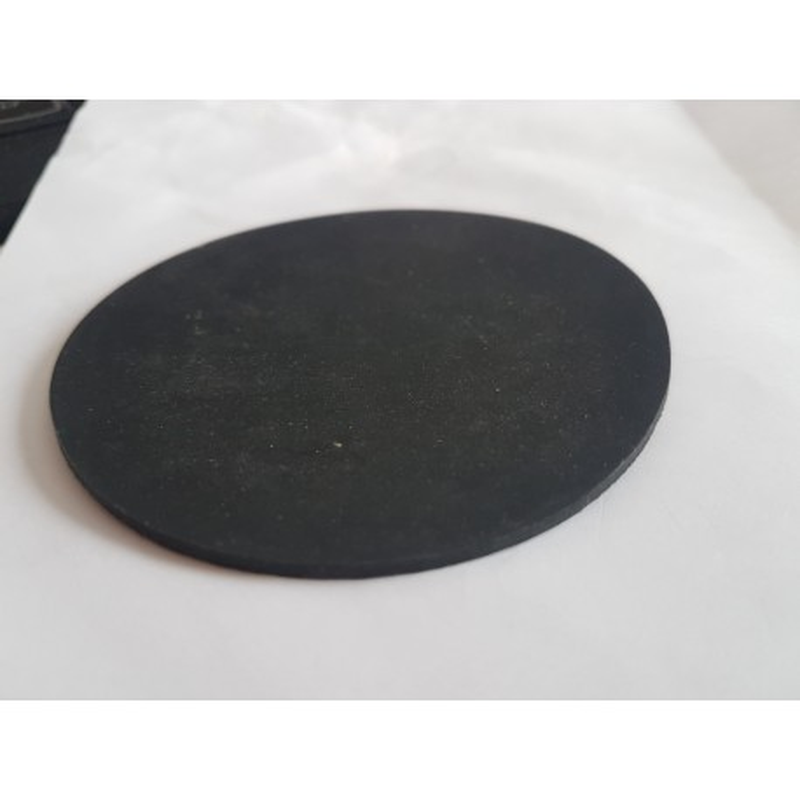 rond rubber plaatje diameter 8,5 cm 2 mm dik