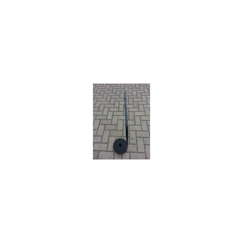 rubber plaatje ca 7x13 cm 3 mm dik